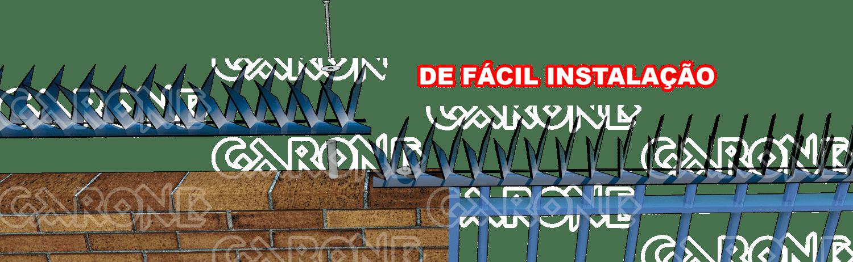 Lanças Protetoras Garraço, material perfurante para muros de proteção